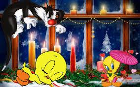 looney tunes tweety bird sylvester cat christmas candles