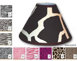 zebra lamp shade etsy
