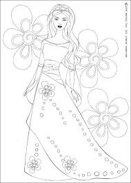 drawn barbie colouring sheet pencil color drawn barbie