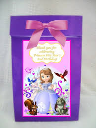 personalized goodie bags sofia the personalized goodie treat favor bag