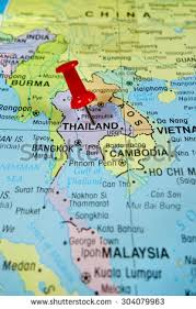 map of thailand pushpin marking on thailand map stock photo 304079963