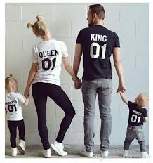 2017 new fashion family matching cotton