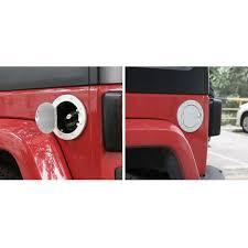 jeep wrangler 4 door silver car detector accessories silver fuel gas cap door cover for 2007