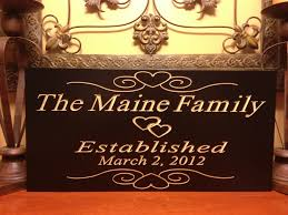 personalized wedding plaque personalized established plaque sign wedding name engraved