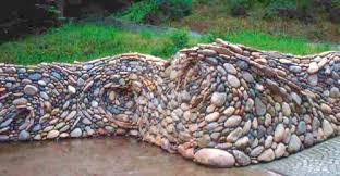 river rock garden bed home design ideas