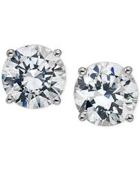 stud earrings certified diamond stud earrings 5 8 ct t w in 14k gold or