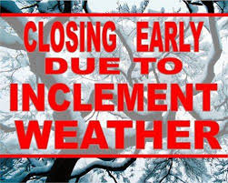 closing early winter weather northstar sports