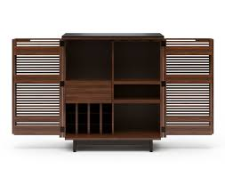 Compact Bar Cabinet Bdi Corridor Compact Bar Chocolate Stained Walnut