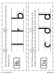 b d letter reversal match to uppercase worksheet