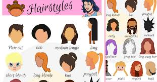 hair style esl hairstyle vocabulary in english getting a haircut 7 e s l