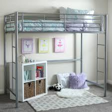 twin metal loft bed with desk and shelving focus loft bed amazon walker edison we furniture bunk twin metal