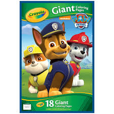 crayola paw patrol giant colouring pages toys r us