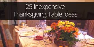25 ideas for inexpensive thanksgiving table decorations ohladee
