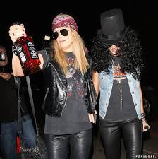 Slash Halloween Costume Jessica Alba Girlfriend Paired Slash Axl Rose