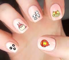 studio ghibli nail decals studioghibli anime totoro nails