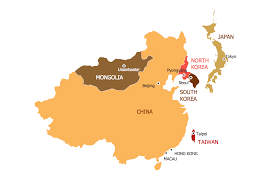 East Asia Political Map Continent Maps Solution Conceptdraw Com