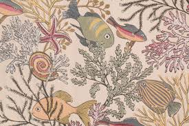 Tropical Upholstery Tfa Fishy Face Tapestry Upholstery Fabric In Tropical