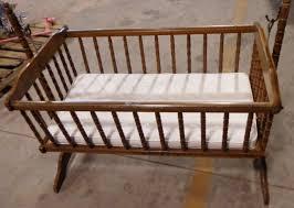 old williamsburg wood rocking crib cradle