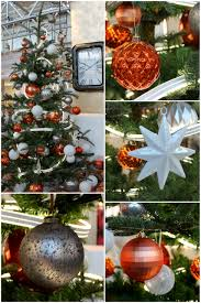 a modern christmas colour scheme in orange white and grey