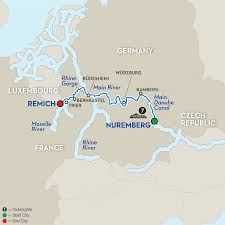 Wurzburg Germany Map by 8 Day River Cruise Nuremberg To Remich Avalon Waterways River Cruises