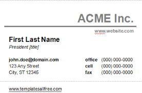 Microsoft Word Template Business Card Microsoft Word Business Card Template Free Download Template
