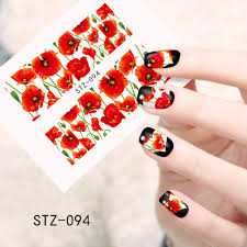 aliexpress com buy 1 sheets colorful flower new beauty nail art