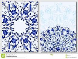 Design Patterns For Cards Set Of Vintage Template For Design Wedding Invitations And