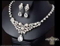 pearl necklace wedding set images 57 crystal pearl necklace envogue freshwater pearl crystal jpg