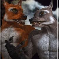 lycans fox and wolf 3d models and 3d software by daz 3d