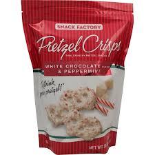 pretzel delivery costco snack factory pretzel crisps white chocolate peppermint