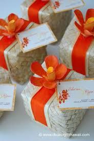hawaiian themed wedding favors eco friendly market hawaiian weddings lauhala boxes hawaiian
