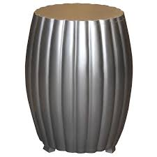 silver barrel side table contemporary silver lacquer chrysanthemum design stool can also be