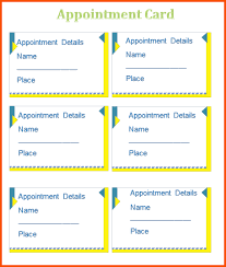 12 appointment card template survey template words