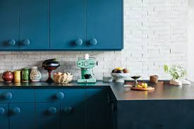 colored cabinets for kitchen the best 12 blue paint colors for kitchen cabinets
