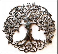 steel drum metal wall hanging tree design tree of