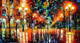 afremov paint oil impressionism abstract scape outdoors