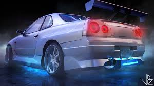 nissan r34 paul walker artstation paul walker u0027s skyline r34 low poly samuel st