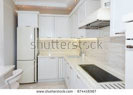 bright bathroom interior with clean modern bright clean kitchen interior luxury stock photo 674416567