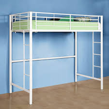 White Metal Bunk Bed Premium Metal Loft Bed White Ugh It S From Walmart But It