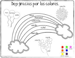 spanish thanksgiving vocabulary coloring pages coloring pages