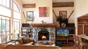 ski vacation rental home with cozy fireplace sun valley vacation