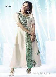 white and pista colour designer kurti