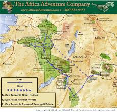 Map Of Tanzania Africa by 12 Day Best Of Tanzania Premier Drive Fly Safari Best African Safari