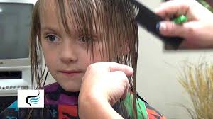 how to cut hairstyles with bangs on little girls haircut
