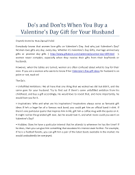 what to buy for s day do s and don ts when you buy a s day gift for your husband