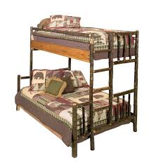Hickory QueenSingle Bunk Bed Traditional Hickory Hickory - Queen single bunk bed