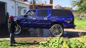 chevy suburban blue candy blue suburban on 30s youtube