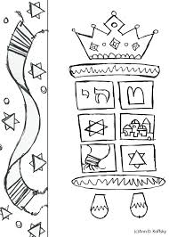coloring pages torah u0026 tree
