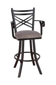 Swivel Bar Stool With Arms Callee Rochester Steel Swivel Stool W Cross Back Design Ships Free