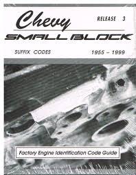 small block suffix codes 1955 1999